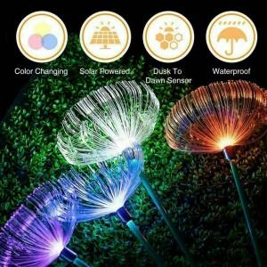 2 Pcs Colorful Jellyfish Solar Lights