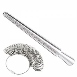 Ring Size Mandrel Stick Finger Gauge Measure Tool