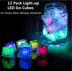 12 Pack Light-up Ice Cubes
