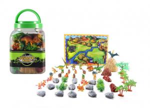 Kid's simulation plant dinosaur toy model