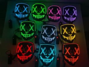 Cold Light V-shaped Party Masks