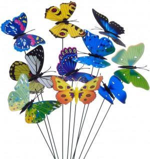 20 Pieces Garden Butterflies Stakes