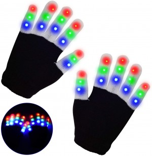 One or Two Pairs of LED Light-Up Gloves