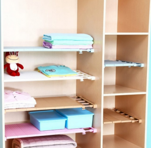 Adjustable Wardrobe Cabinet Organizer Rack