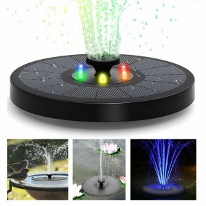 LED Solar Powered Water Fountain