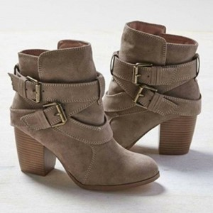 Cross Bandage Ankle Boots