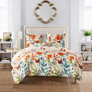 2/3Pcs Floral Bedding Duvet Cover Pillowcase