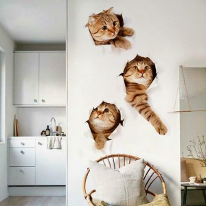 Removable 3D Cat  Decor Wall Sticker