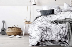 2/3Pcs Marble Duvet Cover Pillowcase