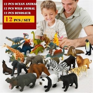 12 pcs Simulate Animal Toy