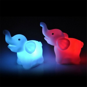 Colorful Elephant LED Lamp Night