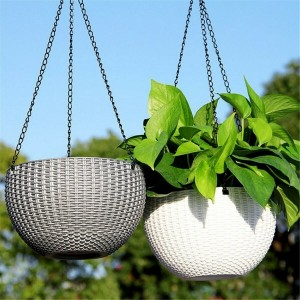 Hanging Flower Pot Chain Planter Basket