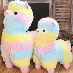 Rainbow  Plush Alpaca Toy Doll
