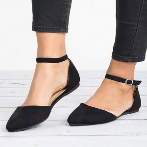 Pointed Strap Flat Shoes