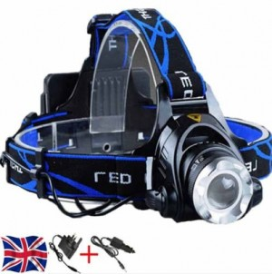 LED Zoom Headlight Torch