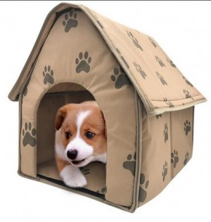 Foldable Dog House Small Footprint Pet Tent