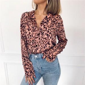 Leopard Print Button Shirt