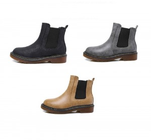 Flat Ankle Chelsea Boots